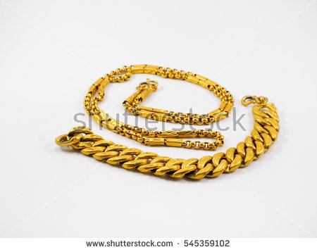 Gold Necklace Stock Photos, Royalty.