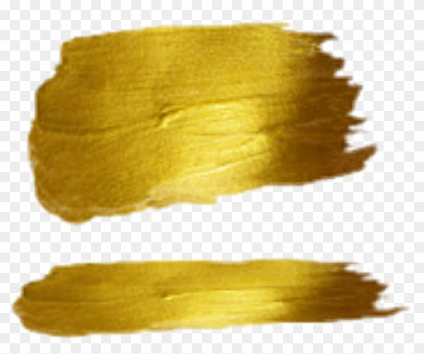 Gold Brush Stroke Png & Free Gold Brush Stroke.png.
