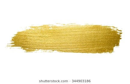 Gold paint brush stroke. Abstract gold glittering textured art.