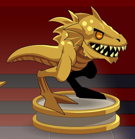 Gold Zard Statue.