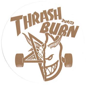 Spitfire Wheels / Thrasher Magazine Skateboard Sticker.
