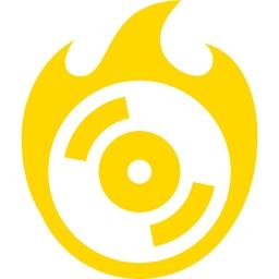 Free gold burn cd icon.