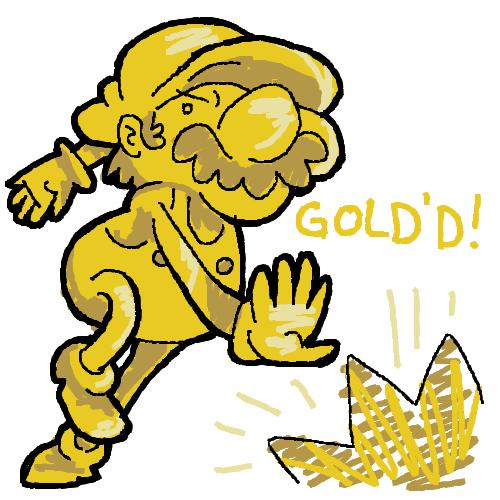 Burn The Internet: Gold Mario.