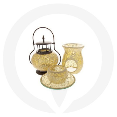 Gold Mosaic Oil Burners.