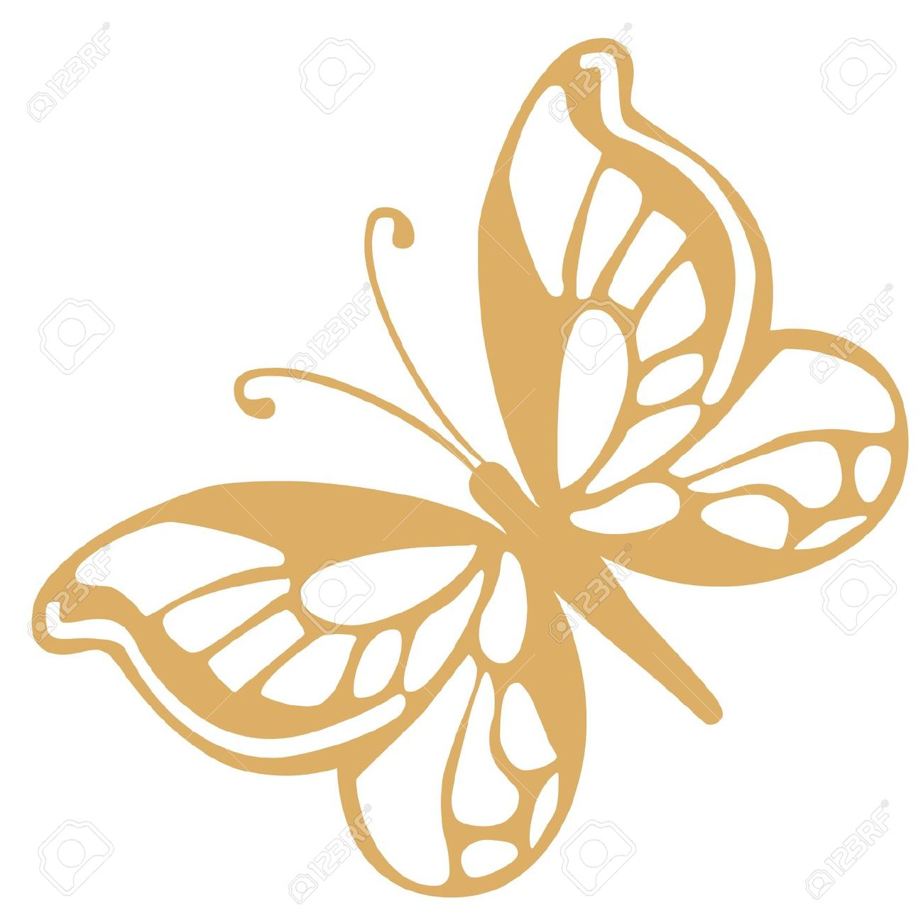 Gold Butterfly Clipart.