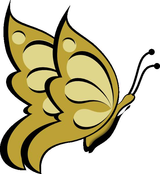 Gold Butterfly Clip Art at Clker.com.