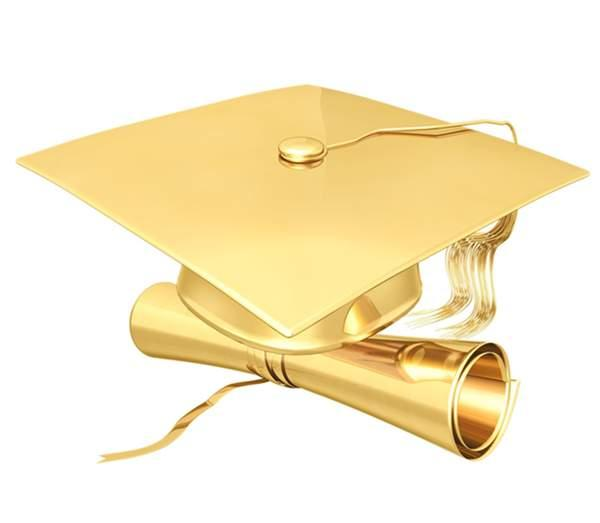 Graduation Gold Cliparts.