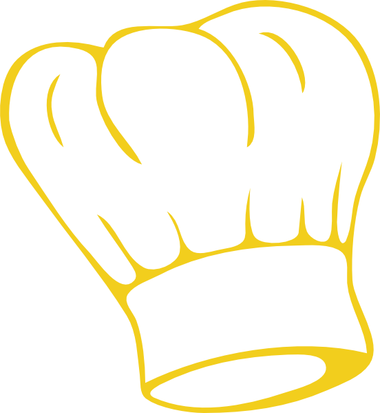 Gold Chef Hat Clipart.