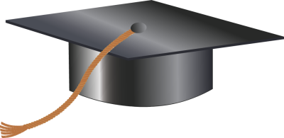 Blue Graduation Hat And Gold Tassels Clipart.