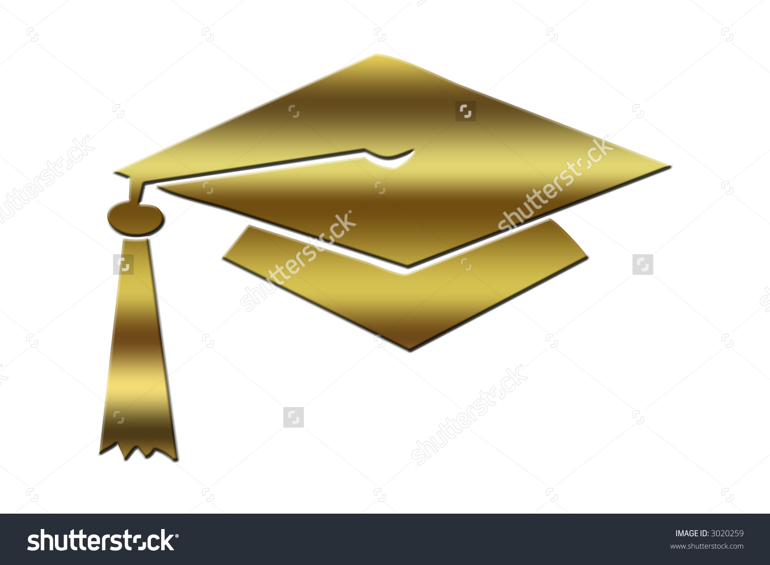 Gold Graduation Cap Stock Illustration 3020259.