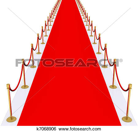 Stock Illustration of red carpet with gold stanchions k7068906.
