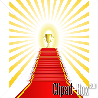CLIPART RED CARPET TO TROPHY.