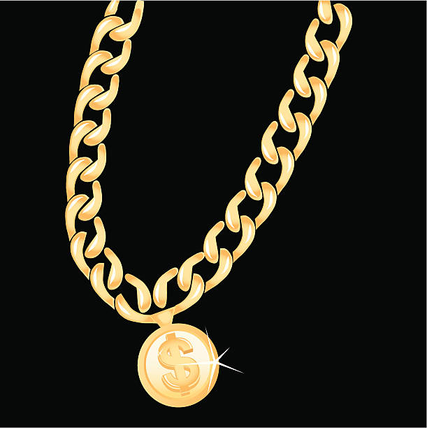 Best Gold Chain Illustrations, Royalty.