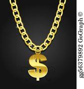 Gold Chain Clip Art.