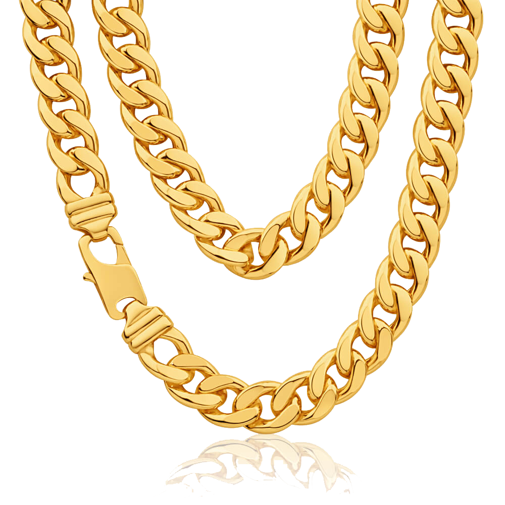 Thug Life Gold Chain PNG Clipart.