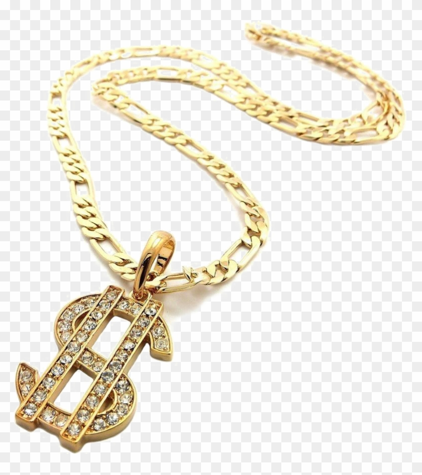 Thug Life Dollar Gold Chain Png Pic.