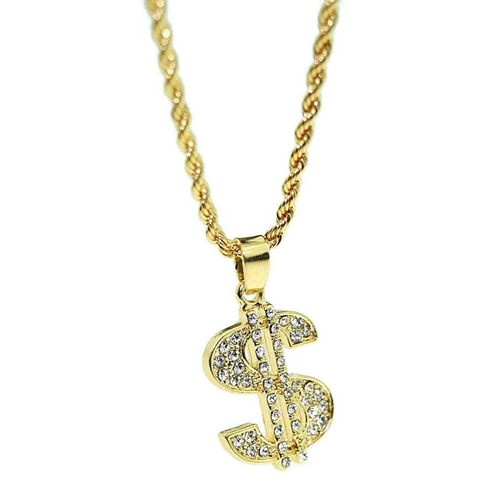 Micro Dollar Sign Rope Chain 24