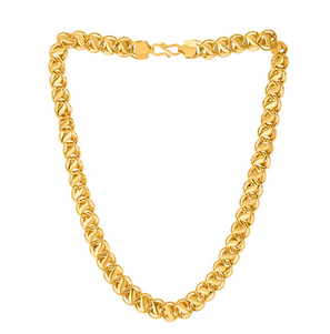 Linking Laureate Gold Plated Chain For Men.