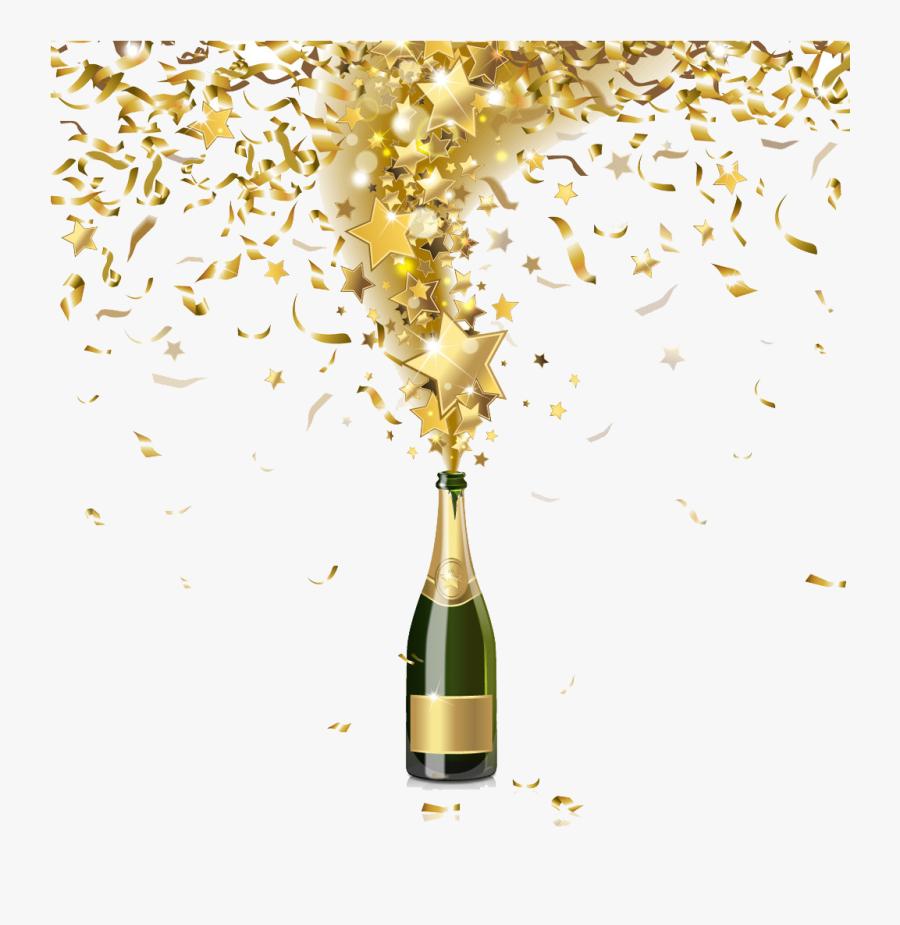 Gold Glitter Wine Glass.