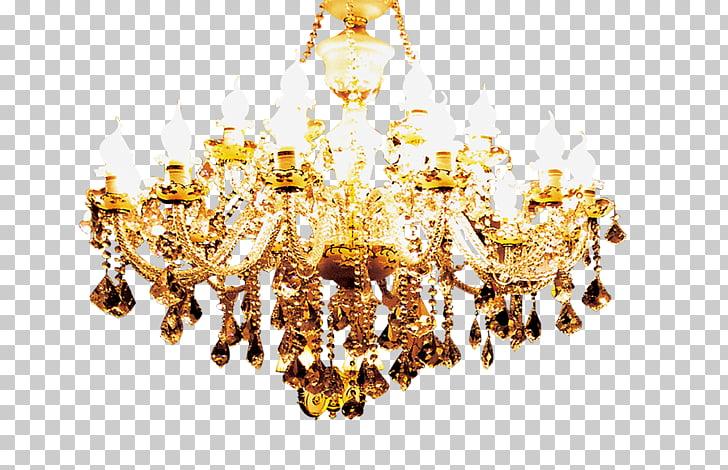Lighting Chandelier, Gold chandelier, chandelier PNG clipart.