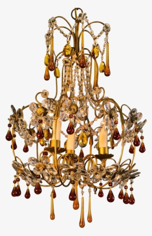 Gold Chandelier Png PNG Images.