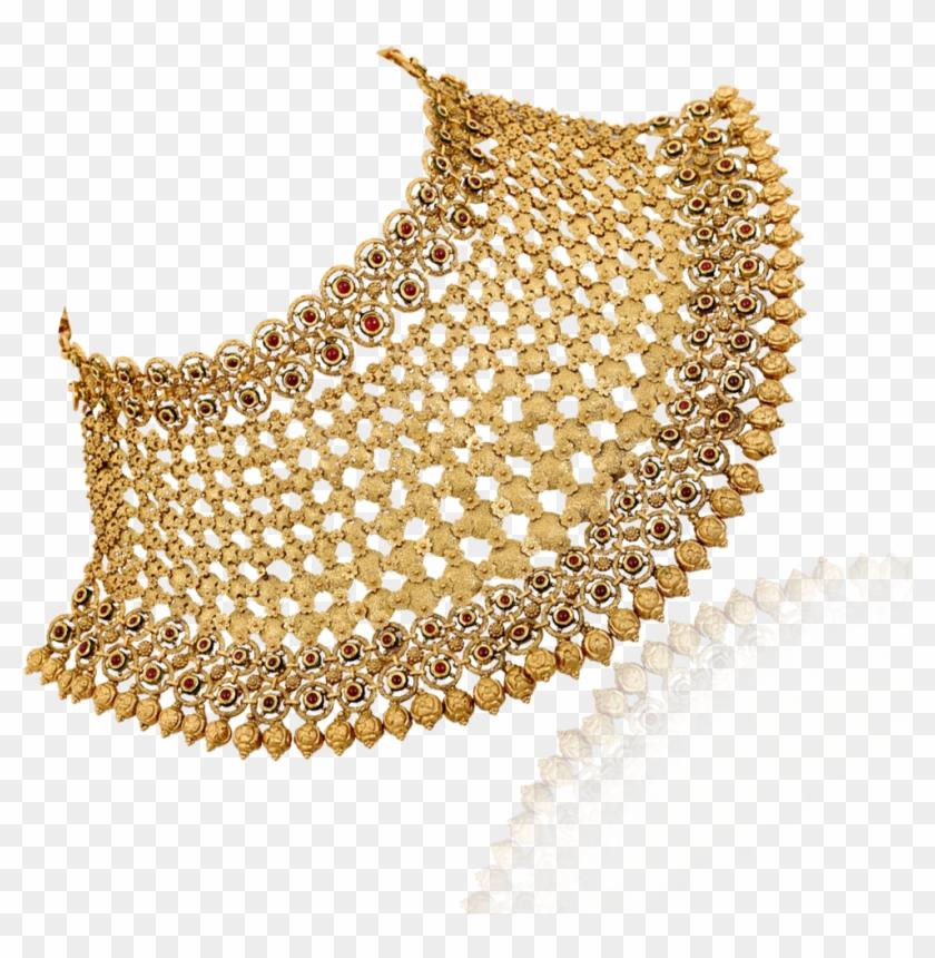 Fabulous Royal Gold Choker Necklace.