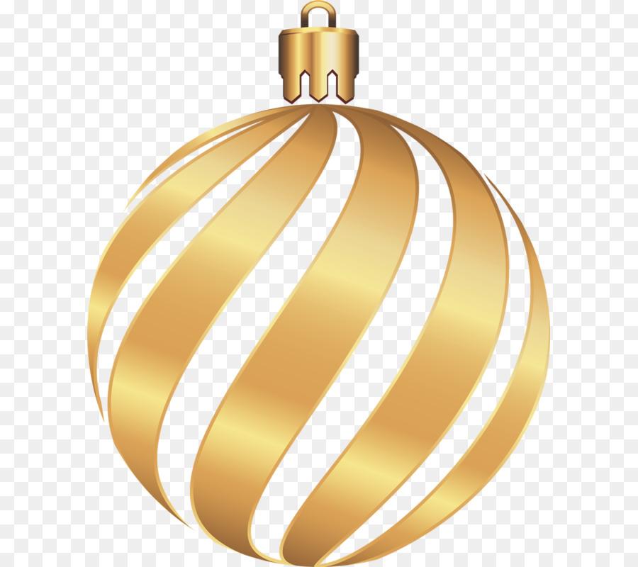 Christmas Ball Gold.