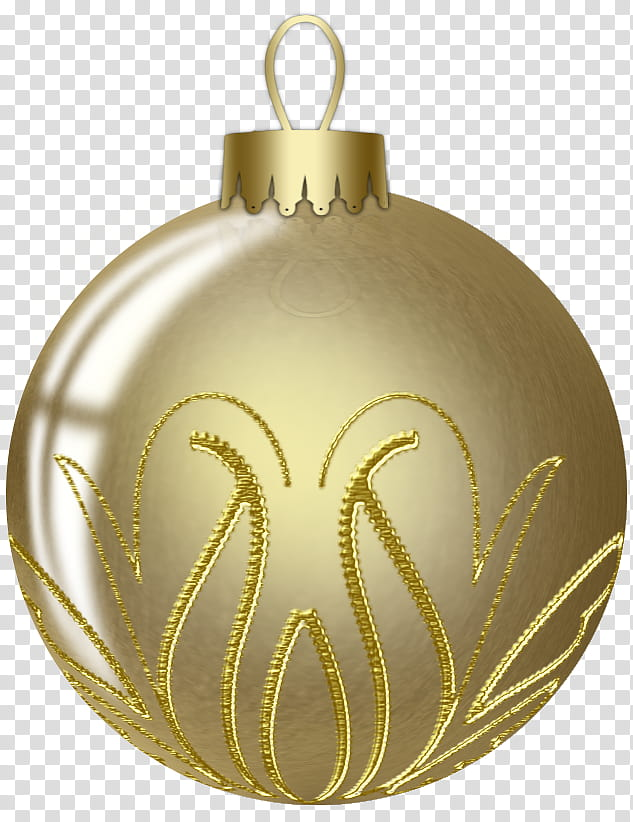 Gold Balls, gold Christmas bauble transparent background PNG.