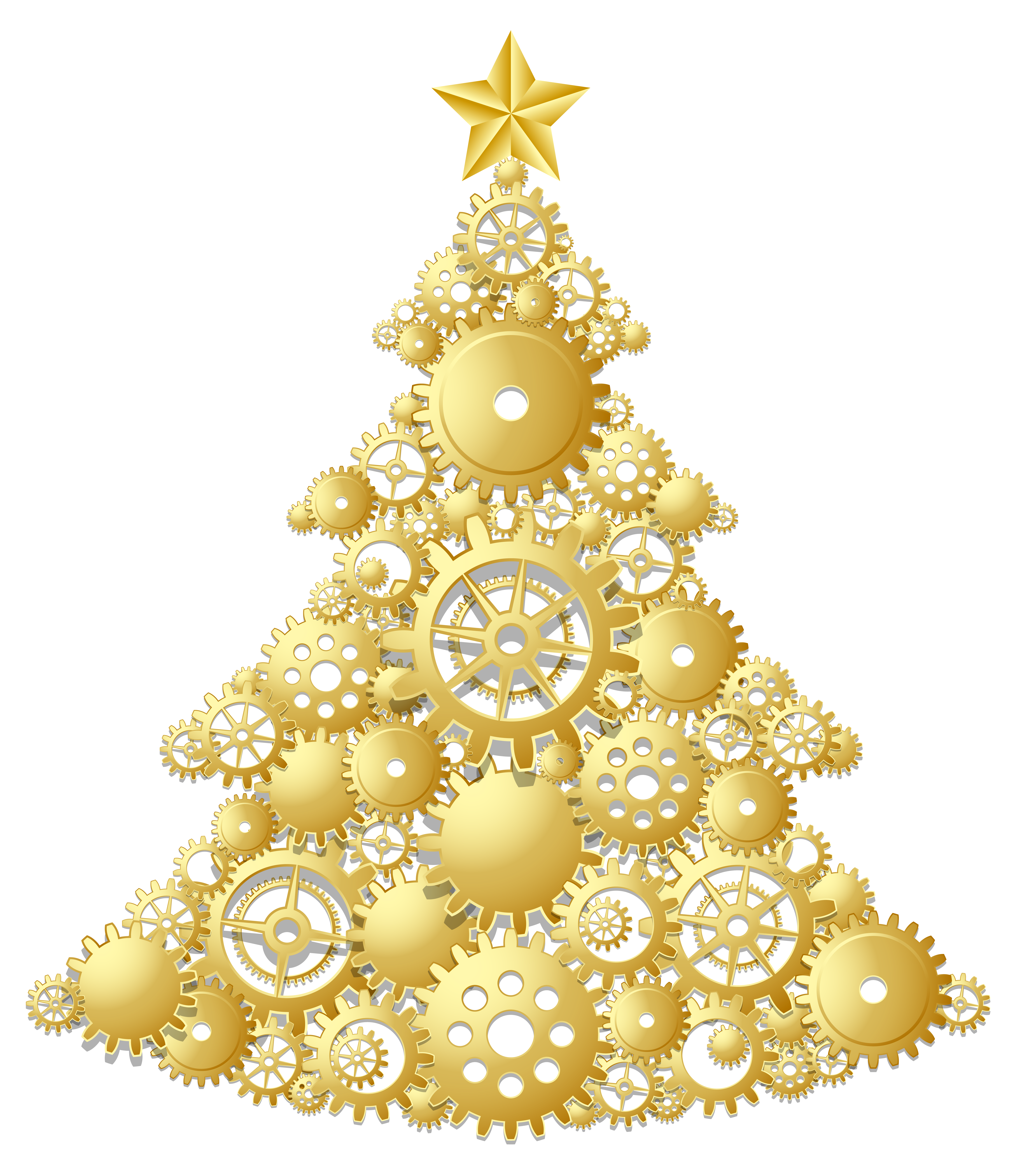 Gold christmas clipart clipground for Gold xmas tree