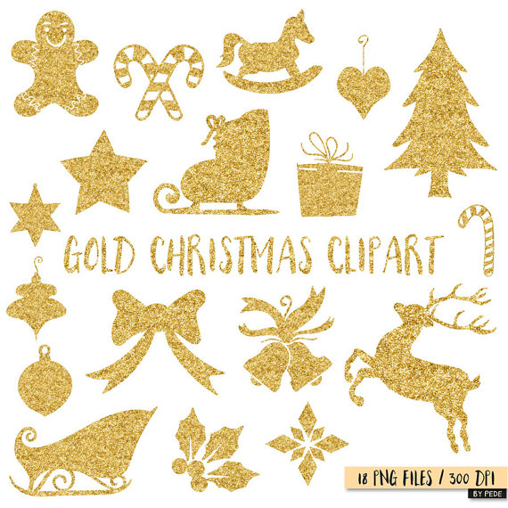 Gold Christmas Tree Clipart.
