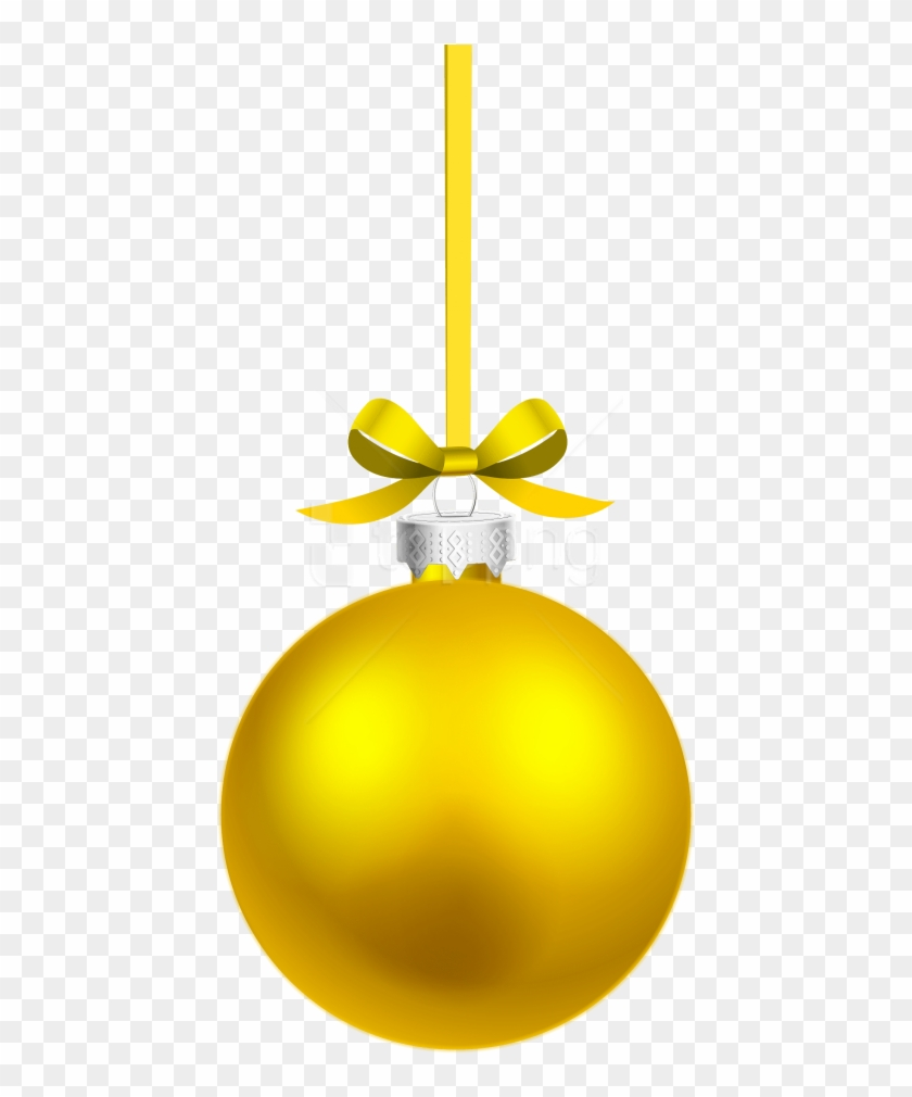 Free Png Yellow Hanging Christmas Ball Png Images.