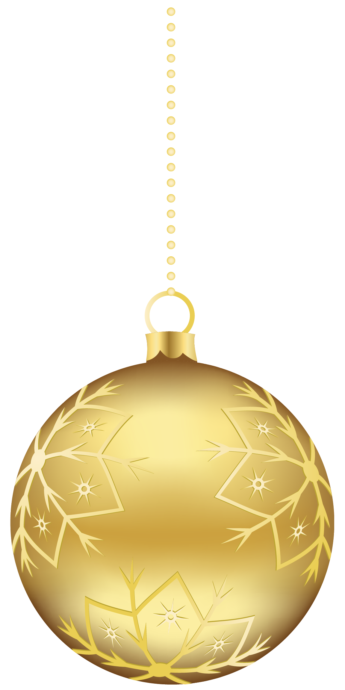 Gold Christmas Ornaments PNG Clipart #46350.