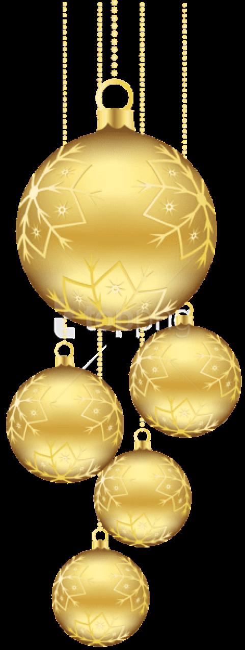 Gold Christmas Balls Png (+).
