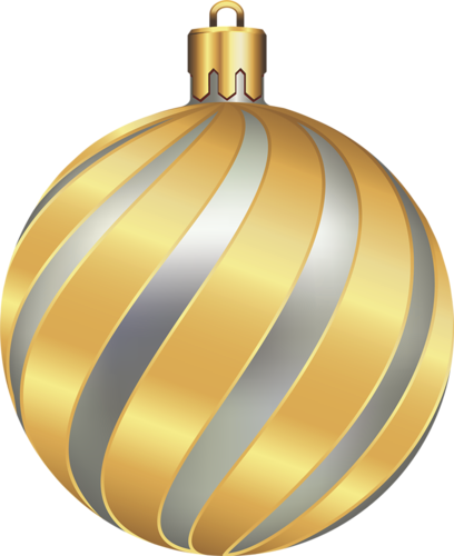 Large Transparent Christmas Gold and Silver Ball.