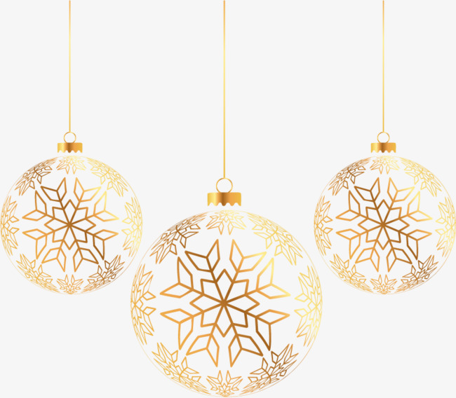 Golden Christmas Ball, Christmas, Strap, Golden PNG and Vector with.