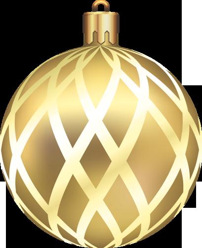 Gold Christmas Ball Clipart.