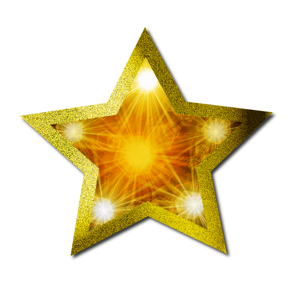 Download Christmas Gold Star PNG Clipart For Designing Project.