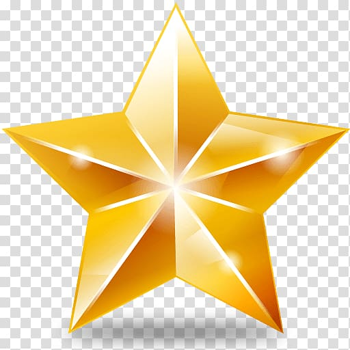 Star Yellow Icon, Christmas Star transparent background PNG.