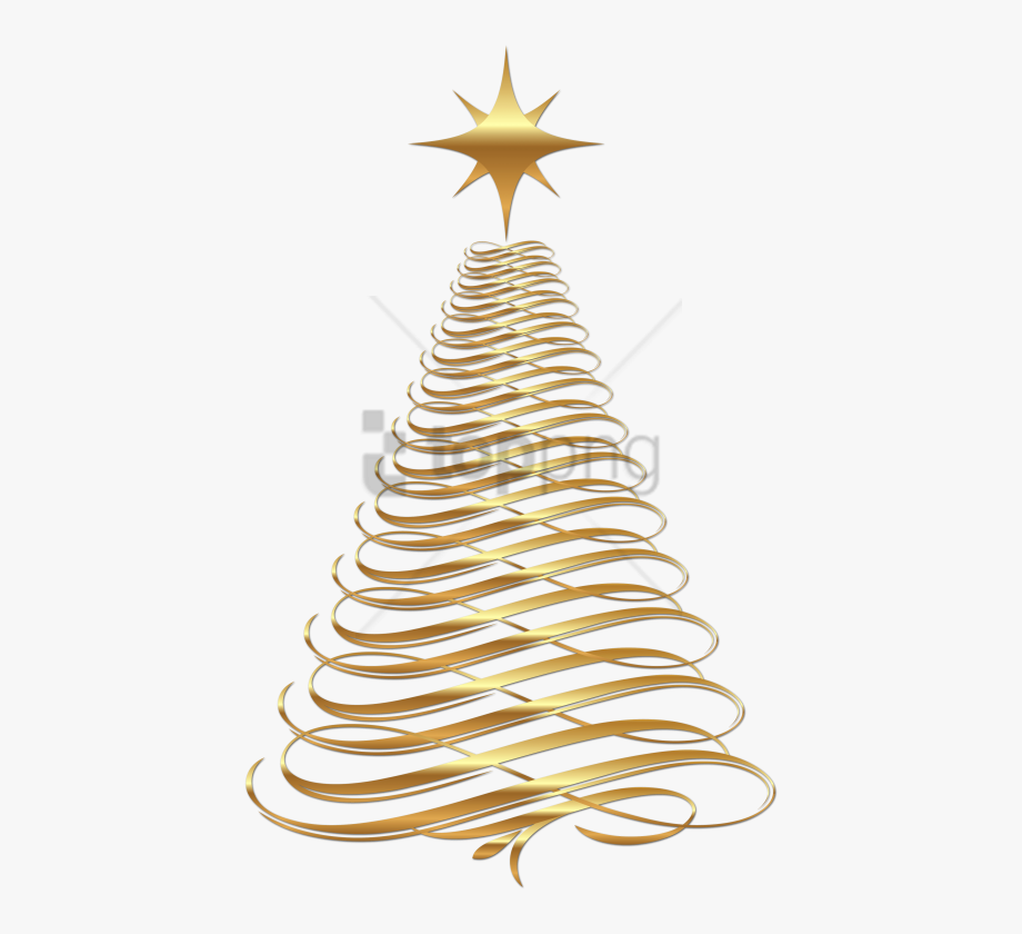 Christmas Decorations Clipart Gold.