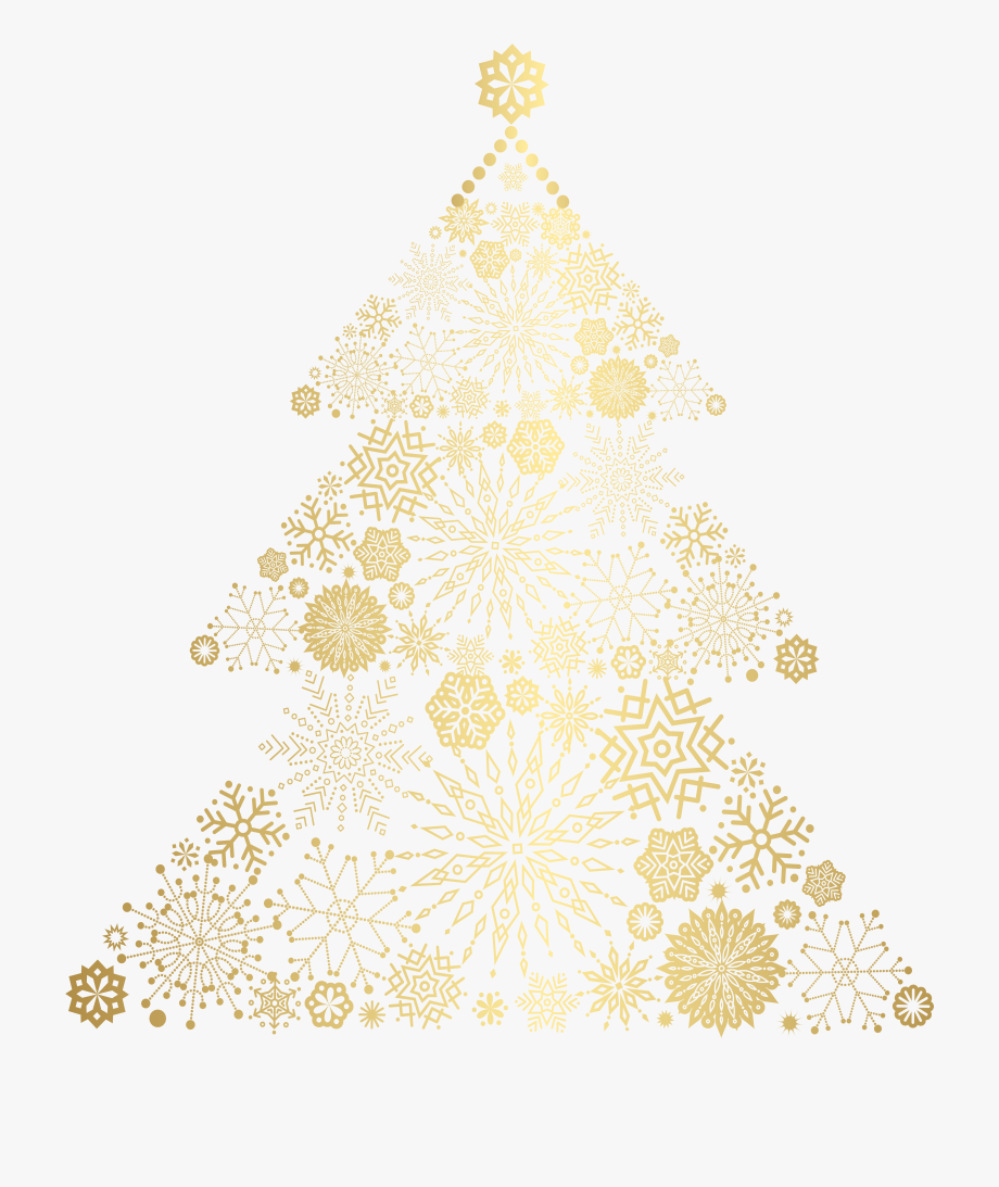 Gold Christmas Tree Png, Cliparts & Cartoons.