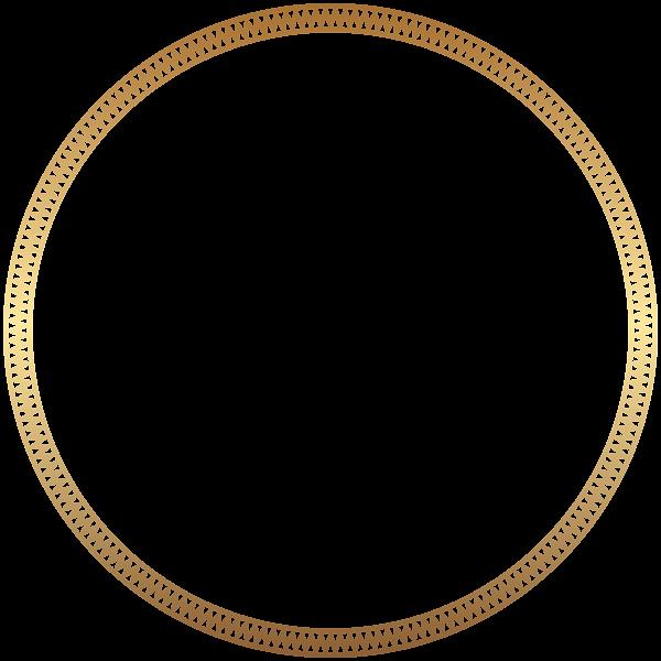 Round Frame Border Gold Clip Art in 2019.