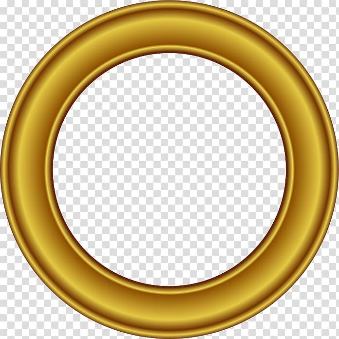 Round beige illustration, frame Circle Gold , Golden Round.