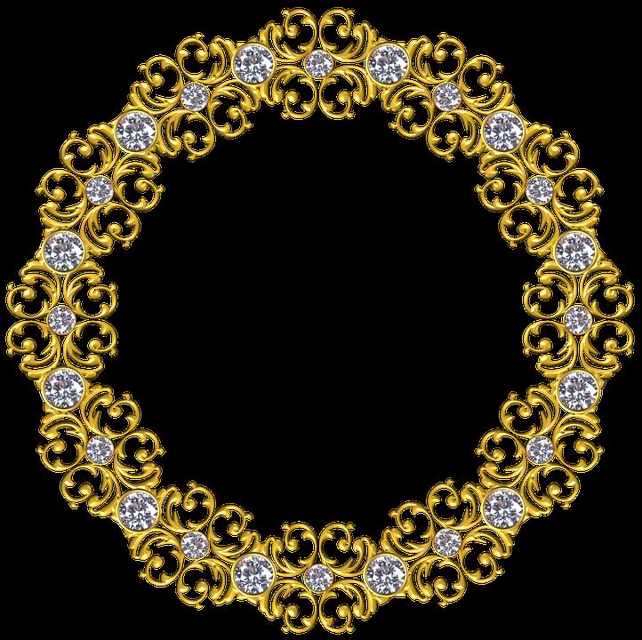 Gold Frame Round.