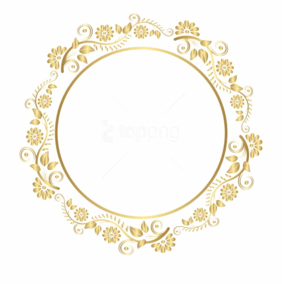 Free Png Download Round Gold Border Frame Deco Png.