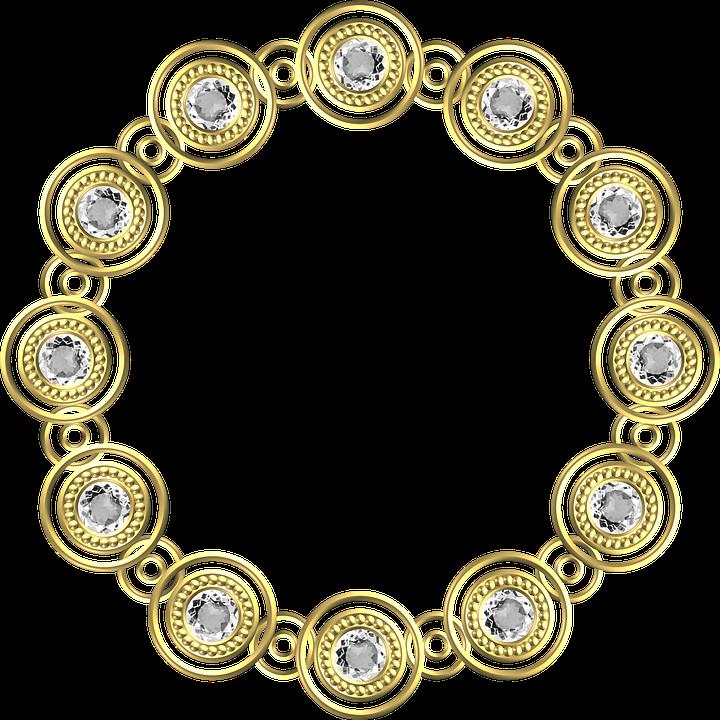 Gold Frame Circle.