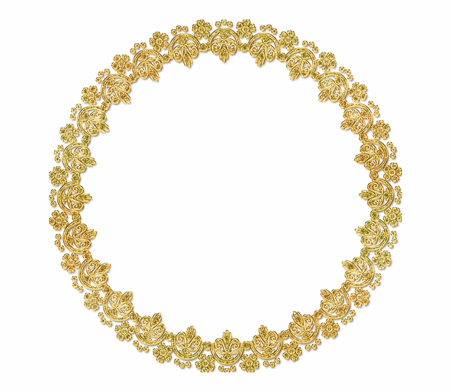 Golden Round Frame Png Hd.