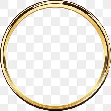 Gold Circle PNG Images.