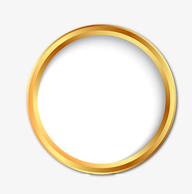 Golden Circle, Promotions, Gradual Change, Golden PNG and Vector.