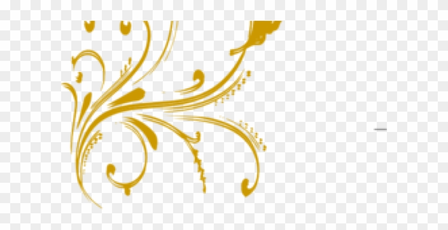 Butterfly Design Clipart Gold.