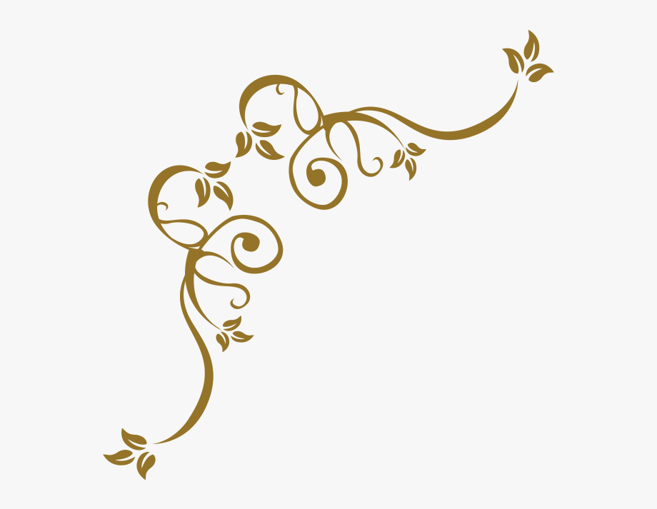 Gold Corner Design Clipart , Transparent Cartoon, Free.
